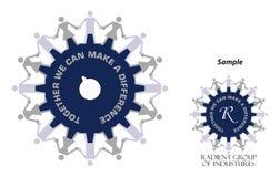 Logo - pouvoir industriel Photos libres de droits
