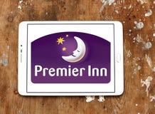 Logo primo degli hotel e delle località di soggiorno della locanda Immagini Stock