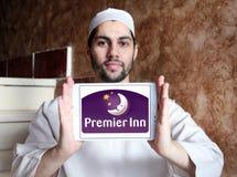 Logo primo degli hotel e delle località di soggiorno della locanda Fotografie Stock Libere da Diritti