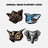 Logo principal animal de mascotte illustration stock