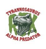 Logo principal de dinosaure, emblème Monstre de Trex Photos stock