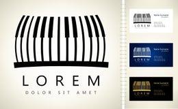 Logo principal de piano Images libres de droits