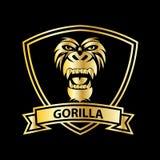 logo principal de vecteur de gorille pour la conception de sport illustration stock