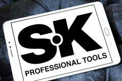 Logo professionnel de société d'outils de bricolage de la SK Image libre de droits