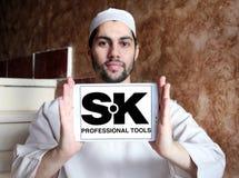 Logo professionnel de société d'outils de bricolage de la SK Images libres de droits