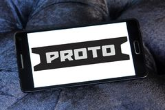 Proto Tools company logo. Logo of Proto Tools company on samsung mobile . Proto Tools is an American industrial hand tool company. The company is credited with Stock Image
