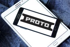 Proto Tools company logo. Logo of Proto Tools company on samsung mobile . Proto Tools is an American industrial hand tool company. The company is credited with Royalty Free Stock Photos