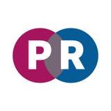 Logo of public relations. Initials pr. Logo of public relations. Icon advertising Agency. Vector illustration Stock Photos