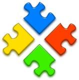 Logo puzzle royalty free illustration