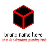 Logo quadrato creativo illustrazione di stock