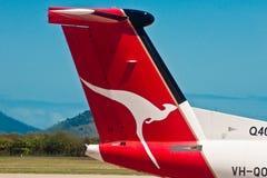 Quantas airline, Logo of Quantas, Australian airline Royalty Free Stock Image