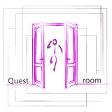 Logo for quest room Royalty Free Stock Photography