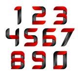 Logo réglé de nombre du vecteur 3d avec la vitesse rouge et noire Concevez pour la bannière, la présentation, la page Web, la car illustration stock