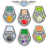 Logo réglé de sports de vecteur Photo stock