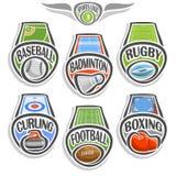 Logo réglé de sports de vecteur Photo libre de droits