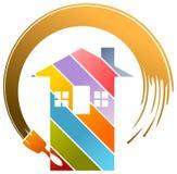 Logo résidentiel de peinture Images stock