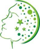 Logo rêveur principal illustration libre de droits