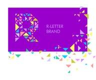 Logo R de lettre de triangle illustration de vecteur