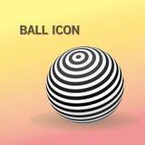 Logo rayé de boule illustration de vecteur
