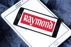 Raymond Group logo. Logo of Raymond Group on samsung mobile. Raymond Group is an Indian branded fabric and fashion retailer. It produces suiting fabric, with a Royalty Free Stock Images