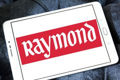 Raymond Group logo. Logo of Raymond Group on samsung tablet . Raymond Group is an Indian branded fabric and fashion retailer. It produces suiting fabric, with a Stock Images