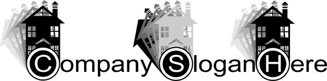 Logo real estate Royalty Free Stock Photography