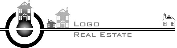 Logo real estate Stock Photo