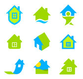 Logo Real Estate. House icon set. Real Estate theme Stock Image
