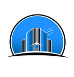 Logo Real Estate City Buildings Stockbild