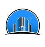Logo Real Estate City Buildings Stock Image