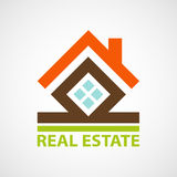 Logo real estate. Royalty Free Stock Photo