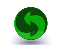 Logo for recyclable materials. The computer graphics on a theme of protection of environment Stock Photography
