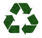 Logo recycle from a grass Royalty Free Stock Image