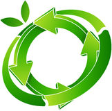 Logo recycling. Illustration of logo recycling isolated on white Royalty Free Stock Photo