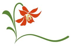 The Logo red of flower. The Logo red stylized flower royalty free illustration