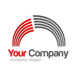 Logo Red Grey. Red / Grey logo with rainbow effect for your company Royalty Free Stock Photo
