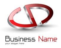 Logo red metallic. Logo glossy red metallic abstract symbol Royalty Free Stock Photo