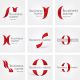 Logo ribbon Royalty Free Stock Image