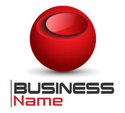 Logo red sphere Royalty Free Stock Image