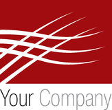 Logo red square. Red square logo for your company Royalty Free Stock Photos