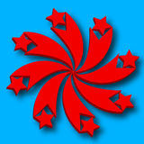 Logo with red stars Royalty Free Stock Images