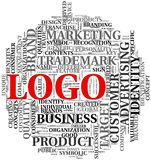 Logo related words in tag cloud Royalty Free Stock Photography
