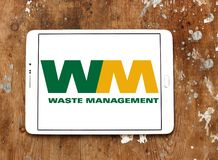 Logo residuo dell'azienda di gestione Fotografia Stock