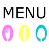 Logo for the restaurant menu Royalty Free Stock Photos
