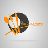Logo restaurant. Orange and black details Stock Photos