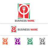 Logo restaurant. Logo of restaurant in various color combinations for more options. EPS 10 stock images