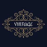 Vintage vector monogram. Elegant emblem logo. stock illustration
