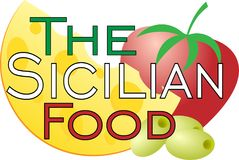 Logo for restaurants with Sicilian gastronomy food logo. Logo for restaurants with Sicilian gastronomy food art logo Royalty Free Stock Photography