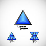 Logo rhombus set Stock Image