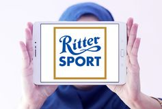 Ritter Sport chocolate brand logo stock images